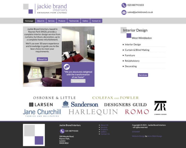 Raynes Park Web Design for Jackie Brand